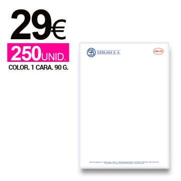 Imprimir Papel de Carta con membrete A4