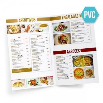 Cartas Restaurante díptico PVC